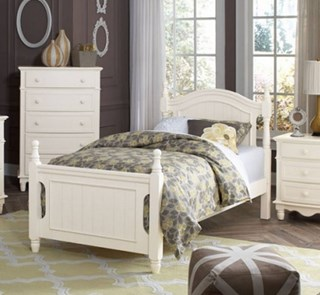 Merveilleux Home Elegance Clementine White 2pc Kids Bedroom Set With Full Bed