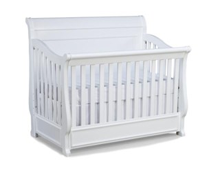 Madison Lifestyle White Convertible Crib W/Toddler Daybed & Guard Rail