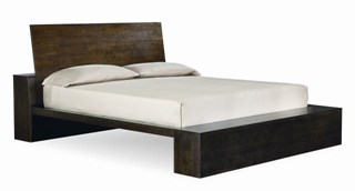 Kateri Contemporary Hazelnut Queen Platform Headboard/Footboard 5/0