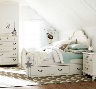 Legacy Kids Inspirations By Wendy Bellissimo Seashell White 2pc Bedroom Set  With.