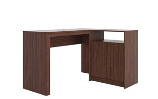 Manhattan Comfort Kalmar Dark Brown L Shaped Office Desk
