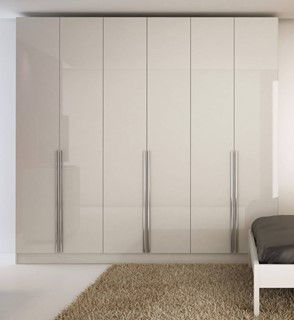 Eldridge Modern White Gloss MDF 4 Drawers & 6 Doors Wardrobe
