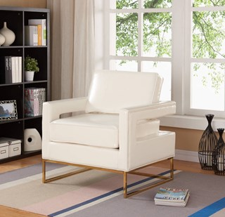 Cute White Accent Chair Design