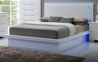 Sapphire High Gloss White Queen Footboard