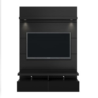Home Roots Black 1 2 Floating Wall Theater Entertainment Center