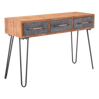Ocean Tailer Distressed Metal Console Table