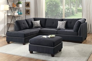 Terrific Acme Furniture Thelma Gray Polished Sectional Sofa Sleeper Andrewgaddart Wooden Chair Designs For Living Room Andrewgaddartcom