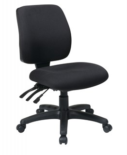 Black Mid Back Ergonomic Chair w/Ratchet Back w/o Arms OSP-33320-30