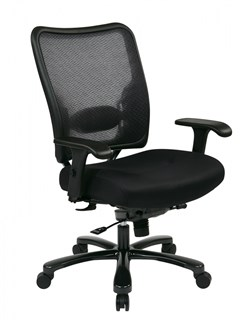 Black Double AirGrid Big & Tall Mesh Back & Seat Ergonomic Chair