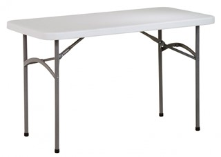 White Resin Folding Multi Purpose 48 Inch Wide Rectangle Table