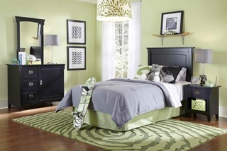 Youth Black Local Solid Wood Antique Bronze Hardware Bedroom