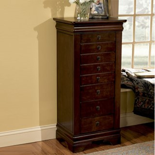 Powell Furniture Louis Philippe Mdf Jewelry Armoire
