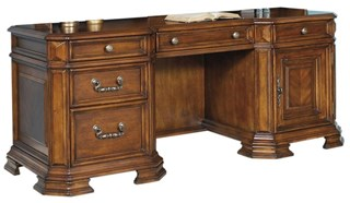 madison traditional brown wood computer desk samuel lawrence furniture product categories - Samuel Lawrence Furniture