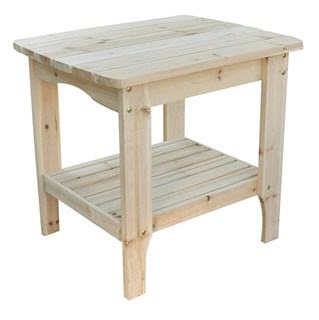 Natural Cedarwood Rectangular Outdoor Side Table
