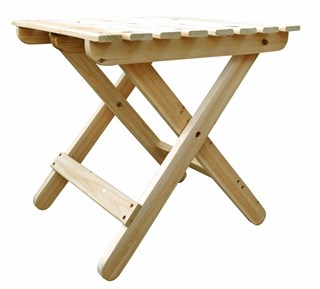 Classic Natural Cedarwood Adirondack Square Outdoor Folding Table