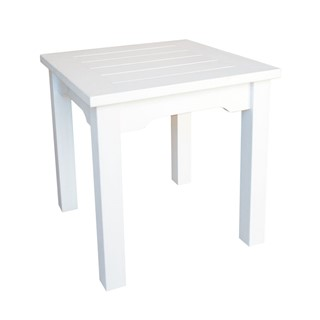 Shine White Square End Table Awesome Design