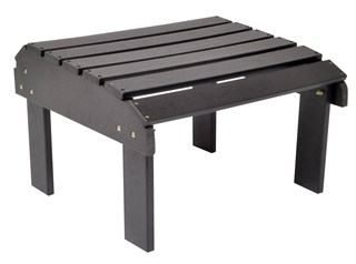 Black Synthetic Wood Rectangle Outdoor Ottoman