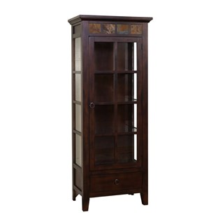 Sunny Designs Santa Fe Dark Chocolate Curio Cabinet