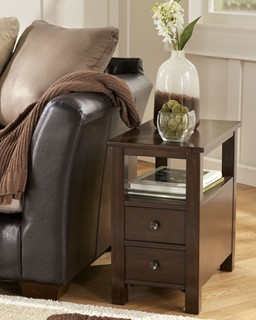 Marion Contemporary Dark Brown Wood Chair Side End Table