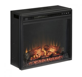 Entertainment Accessories Black Metal Fireplace Insert