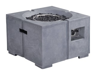 Dante Vive Gray Stainless Steel Glass Propane Fire Pit