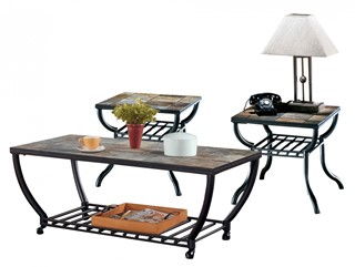 Antigo Contemporary Black Coffee Table Set