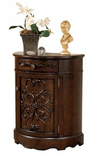 norcastle traditional dark brown wood accent cabinet