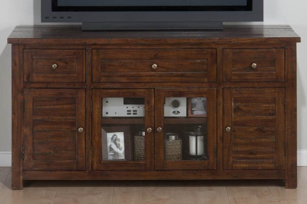 Urban Lodge Casual Brown Wood Glass Media Unit w/3 Drawers JFN-020-9