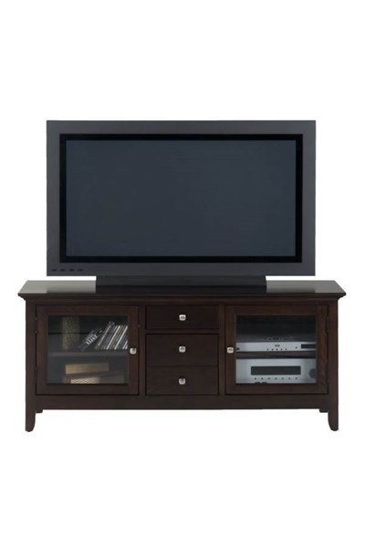 Fresno Contemporary Merlot Wood Glass 2 Drawers Media Unit JFN-040-9