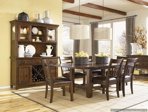 West Side 9 PC Dining Room Set w/ Slat Back Side Chairs 560-S2 560-S2