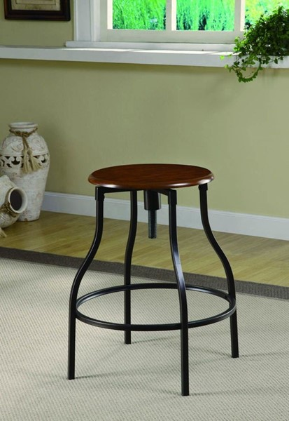 Antique Gold Metal Wood Counter Height / Bar Stool CST-100199