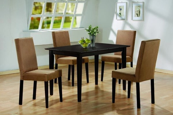 Clayton Transitional Cappuccino Wood 5pc Dining Room Set CST-100491-SET