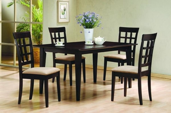 Casual Cappuccino Wood 5pc Dining Room Set CST-100771SET-1