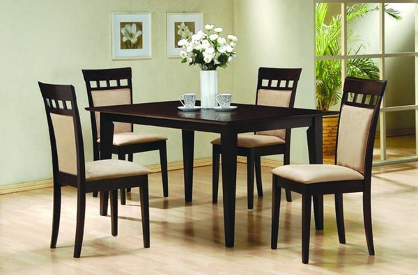 Casual Cappuccino Wood Rectangle 5pc Dining Room Set CST-100771SET-2