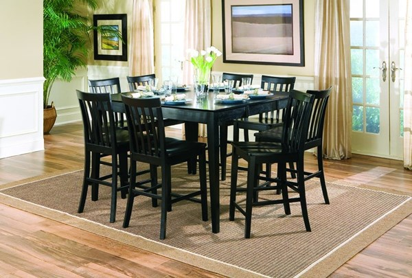 Casual Black Solid Wood Counter Height/Bar Set CST-G101038B