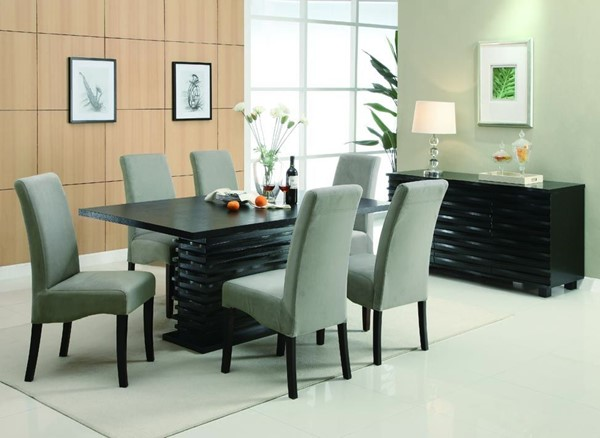 Stanton Contemporary Wood Fabric Dining Room Set CST-G102061