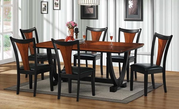Boyer Traditional Black Cherry Wood Dining Room Set CST-G102090