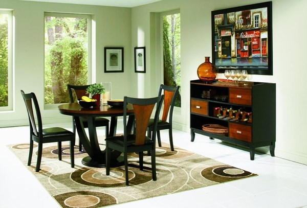 Boyer Traditional Black Cherry Wood 6pc Dining Room Set CST-102091SET