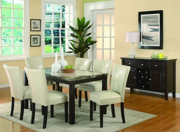Carter Casual Cappuccino 8pc Dining Room Set CST-102260SET-3