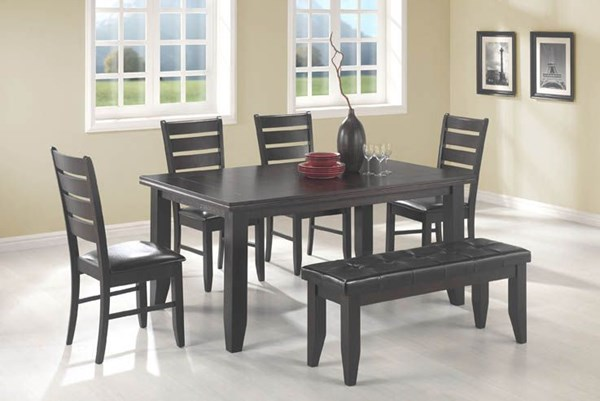 Transitional Cappuccino 6pc Dining Room Set CST-102721SET