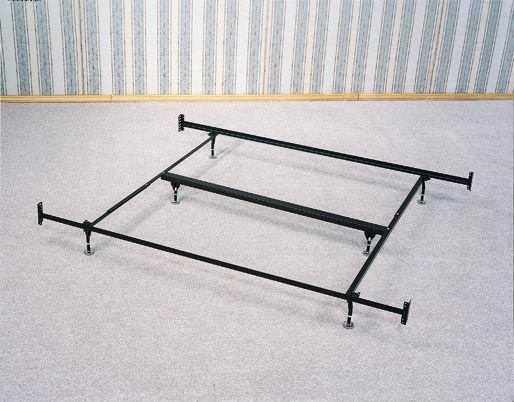 King Bed Frame For Headboard & Footboard - 6 Legs w/Glides CST-1209