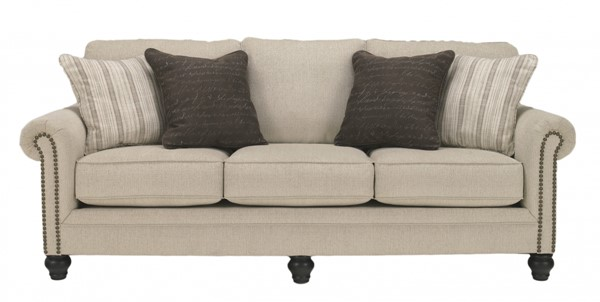 Milari Casual Linen Fabric Sofa W/pillow Back 1300038