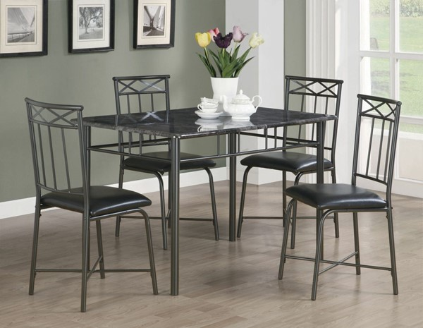 Coaster Furniture 5pc Dining Set with Cushion Chair CST-150115