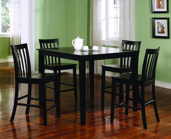 Black Wood 5pc Counter Height / Bar Set CST-150231BLK