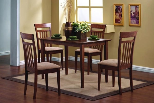 Coaster Furniture Chestnut 5pc Dining Room Set CST-150430