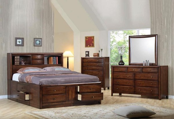 Hillary Transitional Warm Brown Master Bedroom Set CST-2006