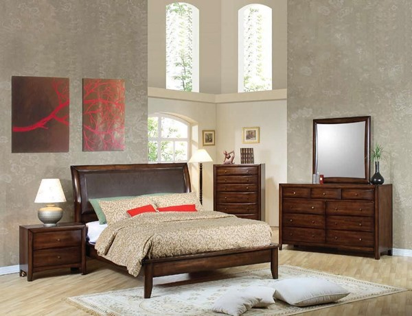 Hillary Transitional Warm Brown 2pc Bedroom Sets CST-2006-S