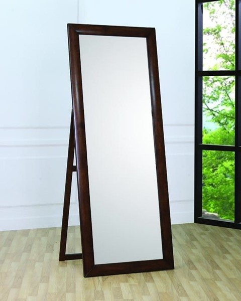 Hillary Transitional Warm Brown Standing Mirror CST-200647