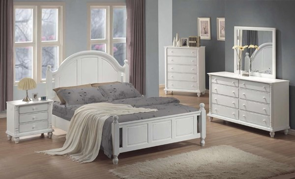 Kayla Transitional White Master Bedroom Set CST-20118