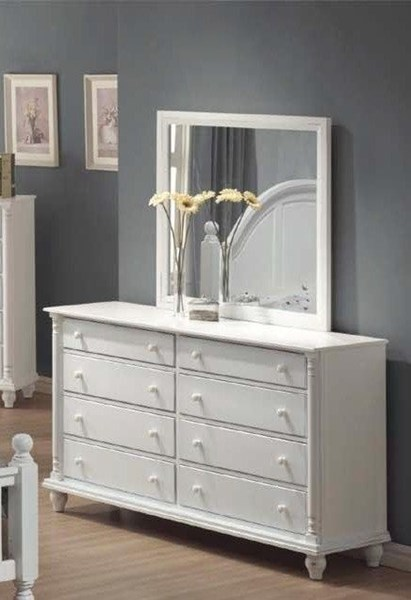 Kayla Transitional White Wood Drawer Dresser CST-201183